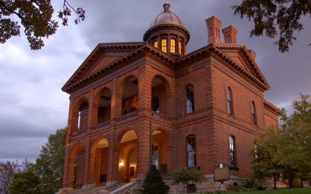 Exterior of the Washington County Historic Courthouse in Stillwater, MN