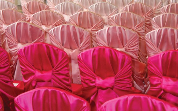 Linen effects wedding guide weddings the best of the twin pink ombre chair covers by linen effects junglespirit Gallery