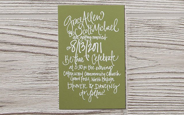 Calligraphy from Katie Murphy Stationery