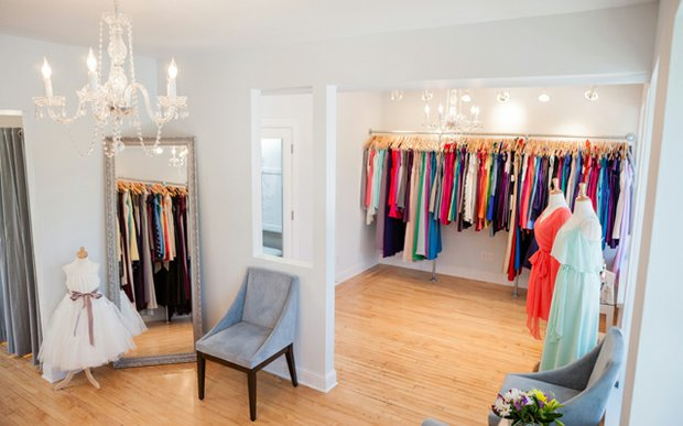 Interior of Bella Bridesmaid in Excelsior, Minnesota