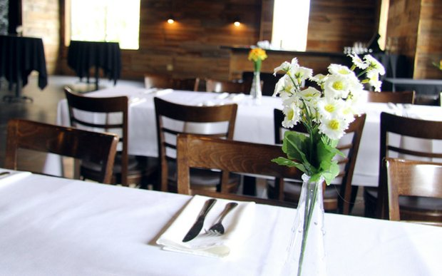 An event setup at Stella's Fish Cafe in Uptown, Minneapolis