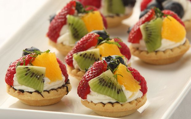 Fruit tarts made by Catering by Kowalski's