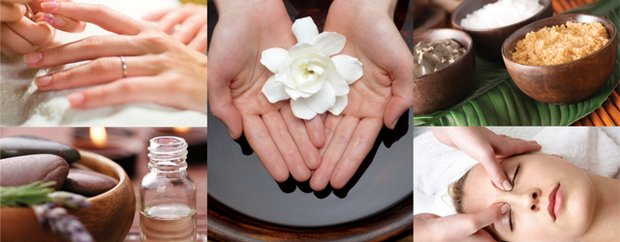 Aafusion spa salon massage and manicure collage