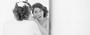 Twisted Hare Salon and Spa bride with curly hair