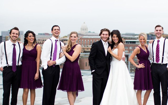 A bridal party with hair and makeup by Phresh