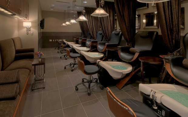 Pedicure stations at Spalon Montage in Edina, Minnesota