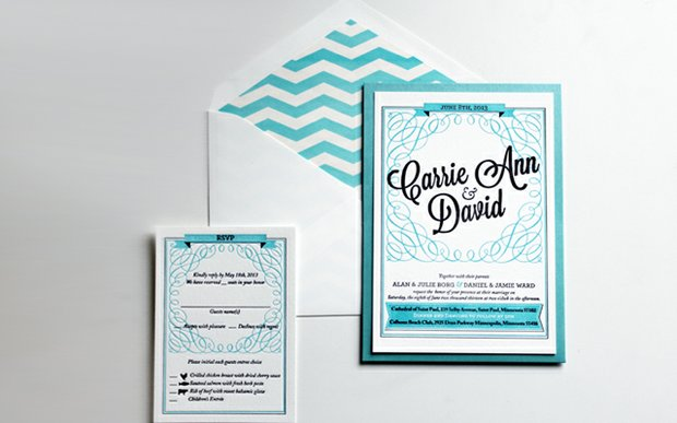 An invitation suite by Dick & Jane Letterpress Co.