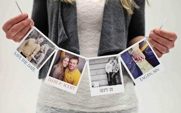Save-the-date designed by Pear Tree Greetings