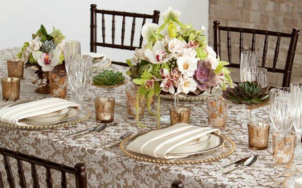 Vintage tablescape by Lisa Roy, owner of Flora Bella.