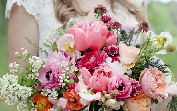 A wedding floral arrangement by Munster Rose