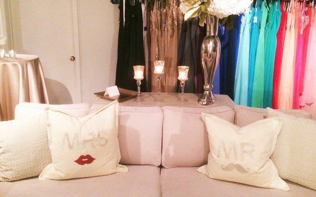 Interior of Posh Bridal Couture in Wayzata