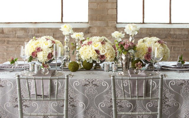 Elegant tablescape by Jackie Just, owner of Just Bloomed.