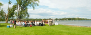 A wedding at Breezy Point resort