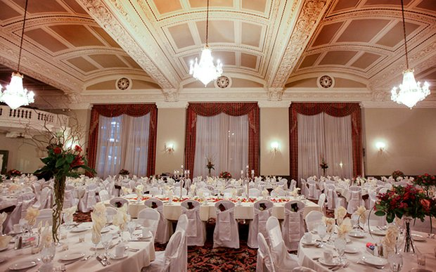 A wedding setup at St. Paul Athletic Club