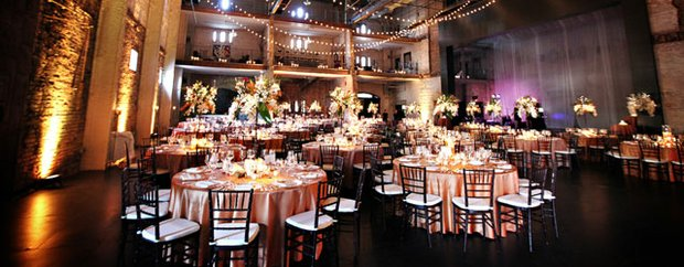 A wedding set up at Aria Event Center in Minneapolis