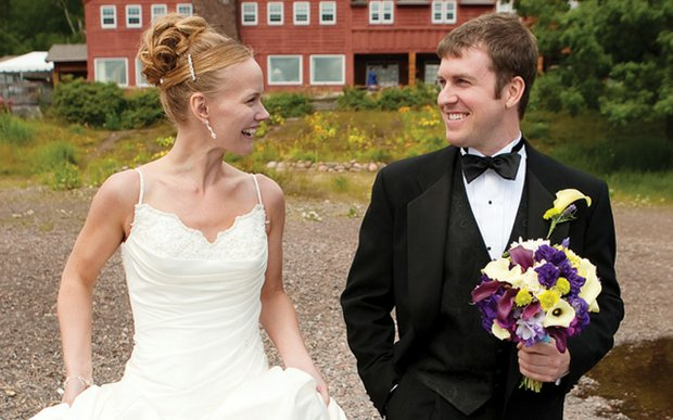 A wedding at Lutsen Resort on Lake Superior