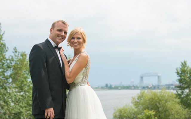 A bride and groom   Photo by Rivets and Roses Photography