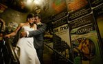 A bride and groom on their wedding day, photographed by Becca Dilley