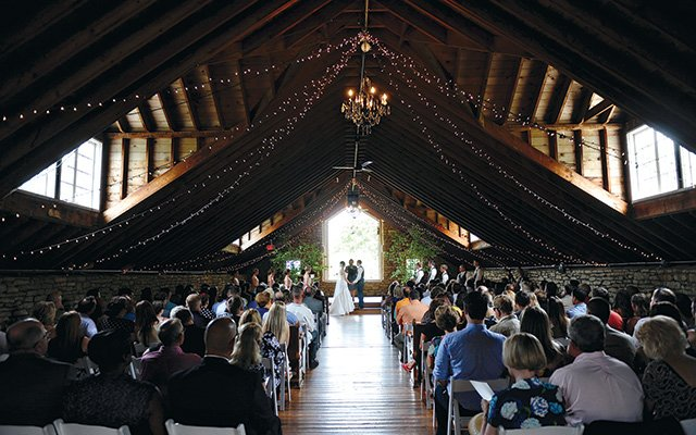 Interior of Mayowood Stone Barn in Rochester, MN