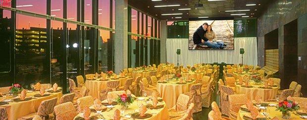 A wedding setup at McNamara Alumni Center