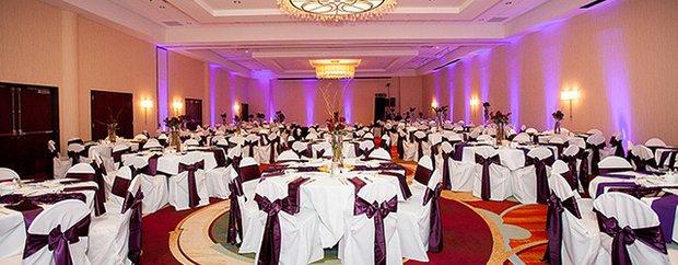 A wedding setup at Minneapolis Marriott Northwest