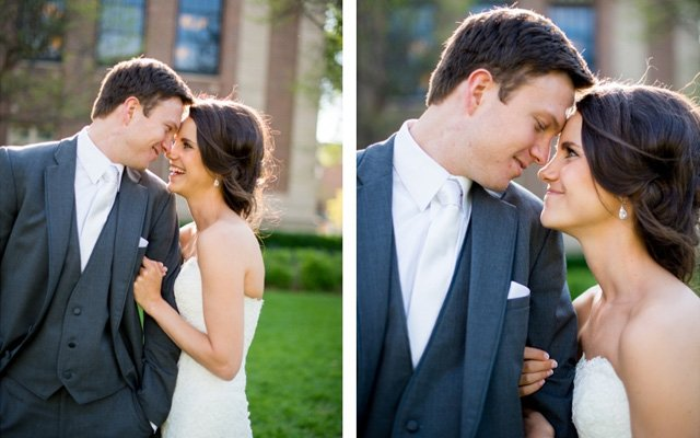 A bride and groom on their wedding day | photo by Callie V Photography