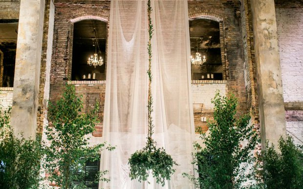 A wedding venue decorated by Blush & Whim