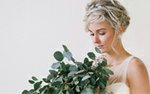 Jaimee Morse Photography bride with leaf bouquet