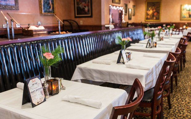 A formal setup at Axel's in Roseville, Minnesota