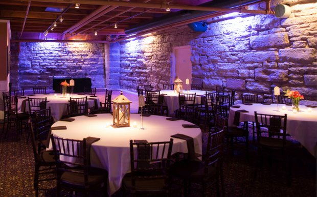 A wedding reception set up at 413 on Wacouta Event Center