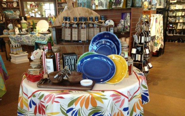 Tableware display at Five Swans in Wayzata