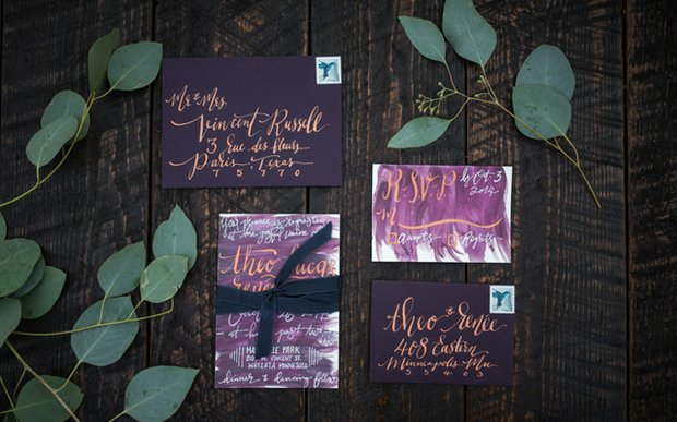 An invitation suite by Hooked Calligraphy