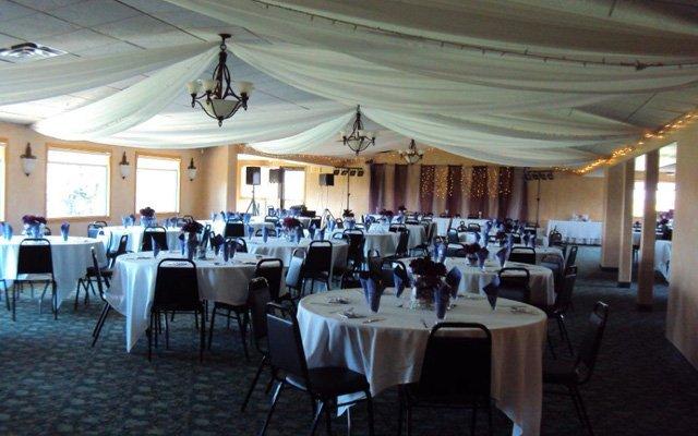 The banquet hall at Sundance Golf Club