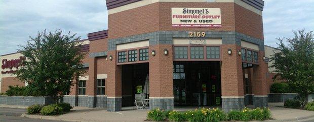 Exterior of Simonet's Furniture Company Stillwater