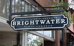 Exterior sign at Brightwater Clothing & Gear in Excelsior, MN