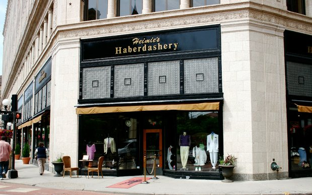 Exterior of Heimie's Haberdashery in downtown St. Paul, MN