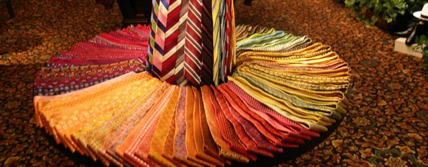 A display of ties at Marty Mathis Clothiers in Minneapolis