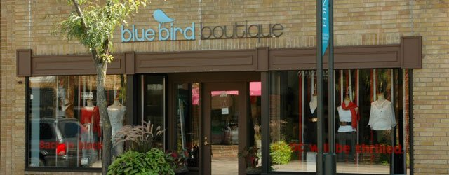 Exterior of Bluebird Boutique Edina