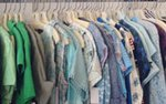 A rack of clothes at Lula Vintage in St. Paul