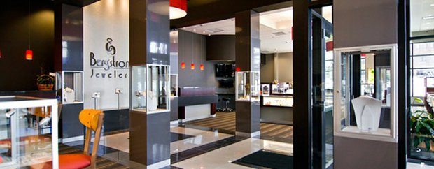 interior of Bergstrom Jewelers Shops at West End