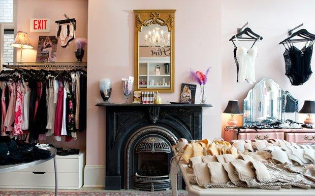 Interior of Flirt lingerie boutique in St. Paul