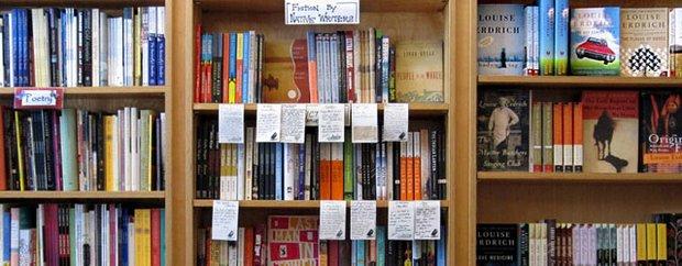 Interior of Birchbark Books & Native Arts