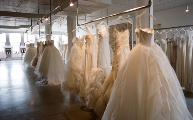 Interior of L'atelier Couture bridal boutique in North Loop, Minneapolis