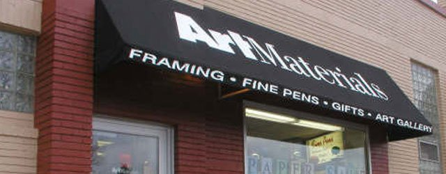 Exterior of Art Materials store