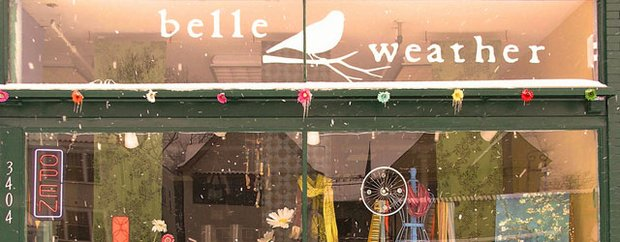 Exterior of Belle Weather store