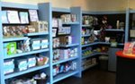 The lobby retail area at Amma Parenting Center