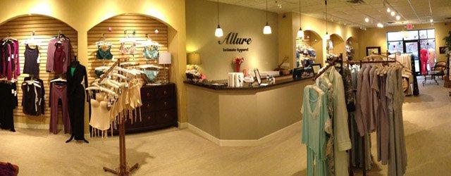 Interior of Allure Intimate Apparel Maple Grove