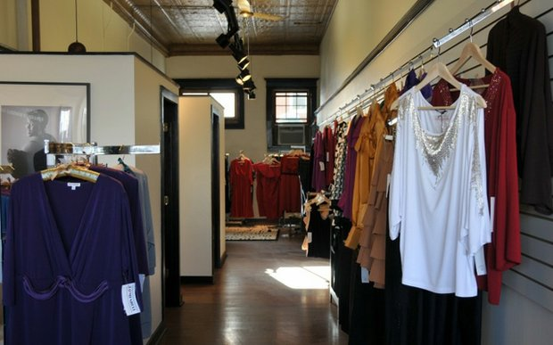 Interior of Bombshell boutique St. Paul