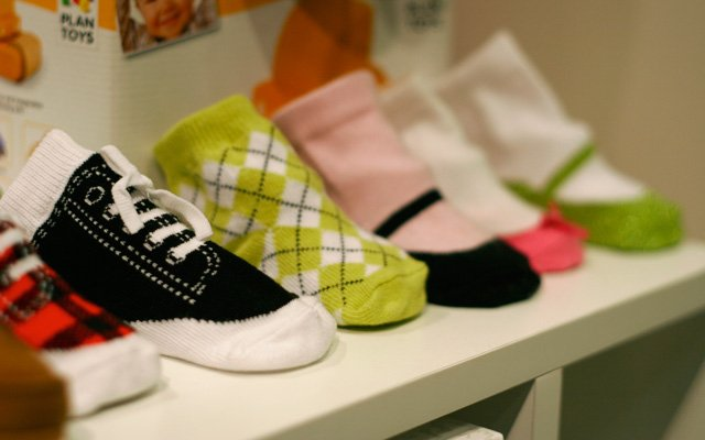 Baby socks at Pacifier boutique