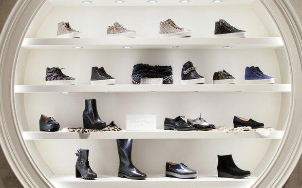 A shoe display at Pumpz & Co. at Galleria, Edina